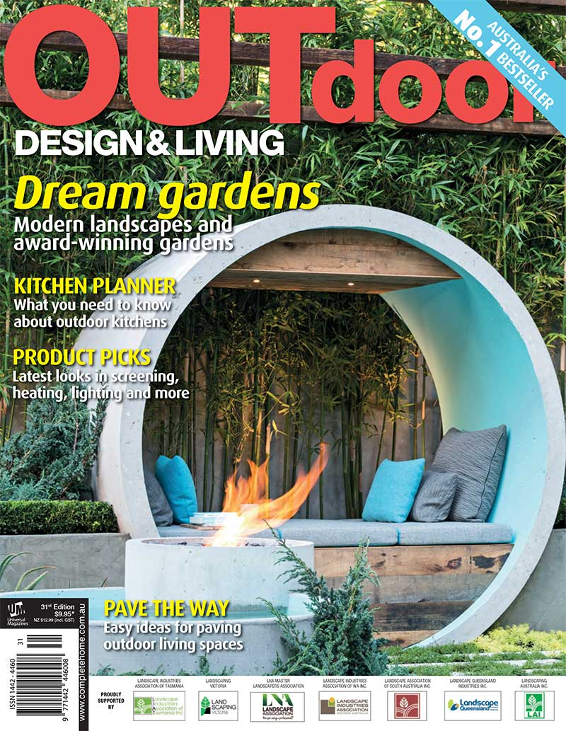 Outdoor design living magazine alison douglas design for Outdoor living magazine